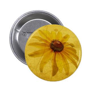 Black-Eyed Susan Wildflower 2 Inch Round Button
