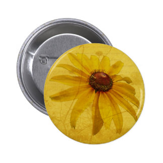 Black-Eyed Susan Wildflower Button