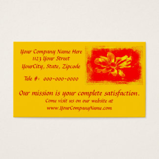 Black-Eyed Susan Wildflower - Digital Art Business Card