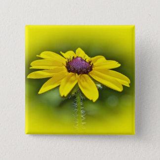 Black-Eyed Susan Wildflower Pinback Button
