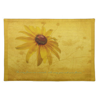 Black-Eyed Susan Wildflower & Quotation Cloth Place Mat