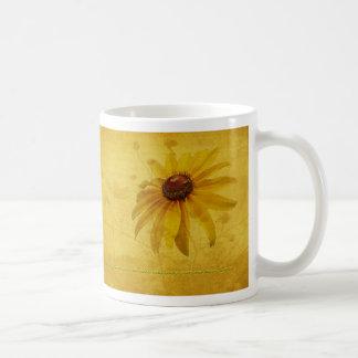 Black-Eyed Susan Wildflower & Quotation Coffee Mug