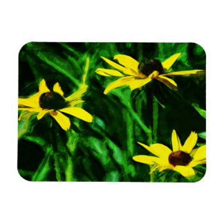 Black Eyed Susan Wildflowers Abstract Magnet