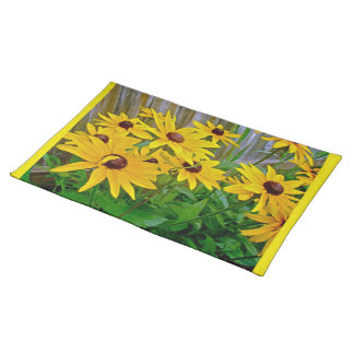 Black-Eyed Susan Wildflowers Cloth Placemat