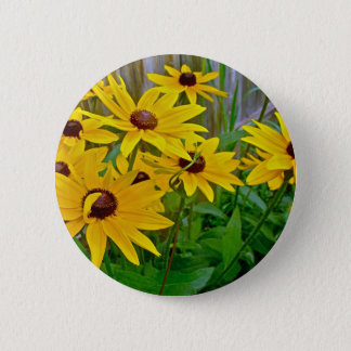 Black-Eyed Susan Wildflowers Pinback Button