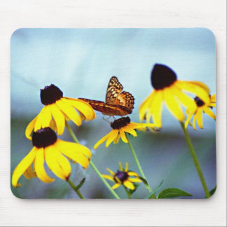 black-eyed susan with butterfly 1 mouse mat