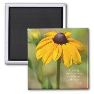 Black Eyed Susan with Quote by Rumi Magnet