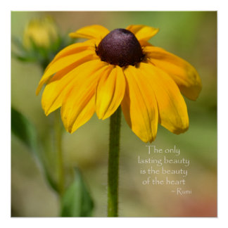 Black Eyed Susan with Quote Poster