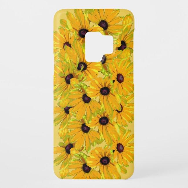 Black Eyed Susan Yellow Floral Galaxy S9 Case
