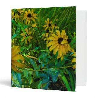 Black-Eyed Susans 3 Ring Binders
