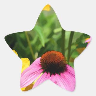 Black Eyed Susans and Pink Coneflower Daisy Garden Sticker