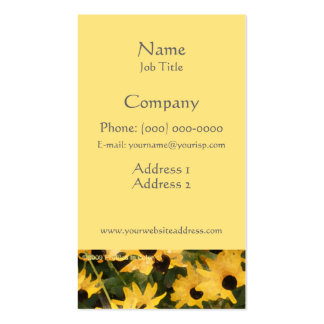 Black Eyed Susans Business Profile Card Double-Sided Standard Business Cards (Pack Of 100)