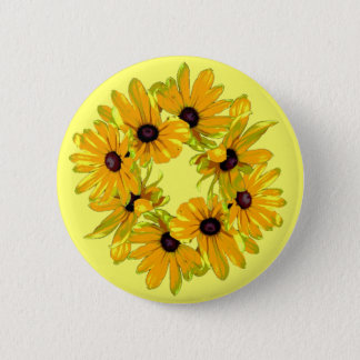 Black-eyed Susans Button