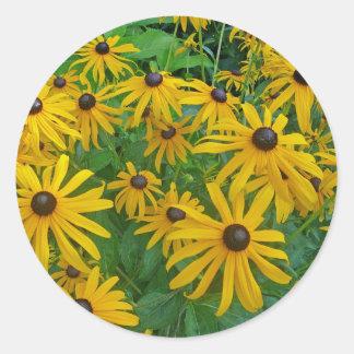 Black Eyed Susans Classic Round Sticker