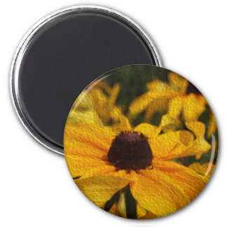 Black Eyed Susans Digital Painting Magnet