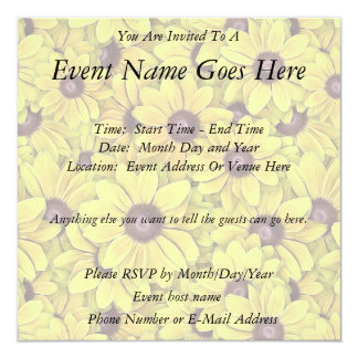Black Eyed Susans Everywhere Invite
