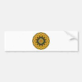 Black-eyed Susans,  Floral Mandala Bumper Sticker