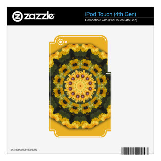 Black-eyed Susans, Floral mandala-style Decals For iPod Touch 4G
