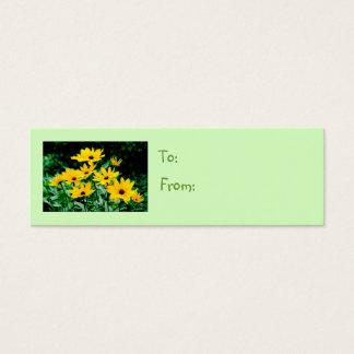 Black Eyed Susans Gift Tag