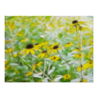 Black Eyed Susans in the Summer Meadow Posters