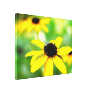 Black Eyed Susans - Romantic and Dreamy Stretched Canvas Prints