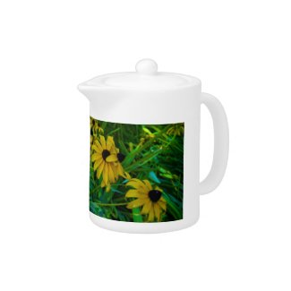 Black-Eyed Susans zazzle_teapot
