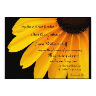 Black Eyed Susans  Theme 5x7 Paper Invitation Card