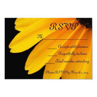 Black Eyed Susans  Theme 3.5x5 Paper Invitation Card