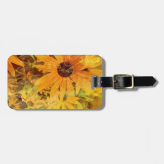 Black Eyed Susan's Wildflower Abstract Design Bag Tag