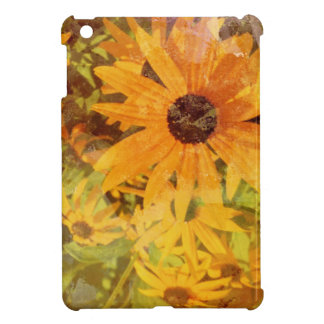 Black Eyed Susan's Wildflower Abstract Design iPad Mini Cover