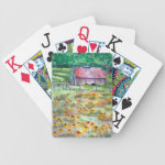 Black-Eyed Susans Wildflower Barn Watercolor Bicycle Playing Cards