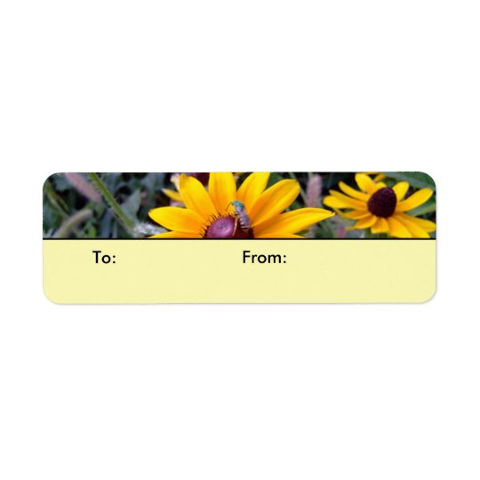 Black-Eyed Susans Yellow Gift Tags