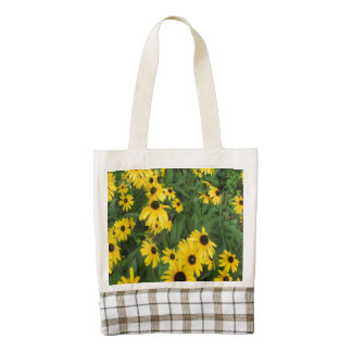 Black Eyed Susans Yellow Green Zazzle HEART Tote Bag