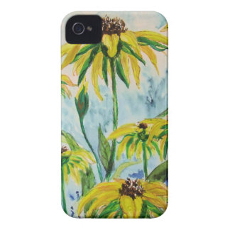 Black eyed suzans in Watercolor Case-Mate iPhone 4 Case
