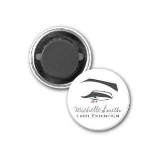 Black Eyeliner blue eye henna make up icon Magnet