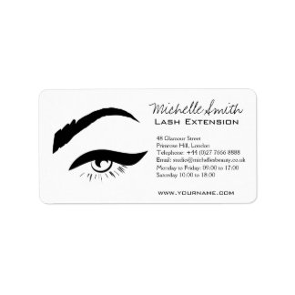 Black Eyeliner lash extension henna make up icon Label