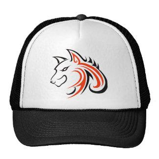 Black Eyes and Black Ears with Orange Wolf Head Ou Trucker Hat