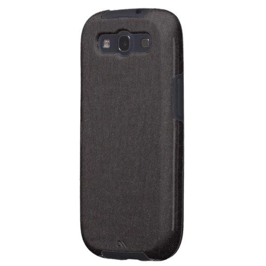 Black Fabric Photo Texture Samsung Galaxy S3 Case