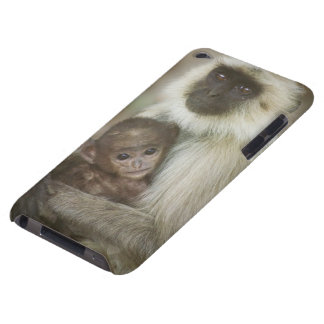 Black-face Langurs, mother with baby, in Barely There iPod Cases