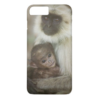Black-face Langurs, mother with baby, in iPhone 8 Plus/7 Plus Case