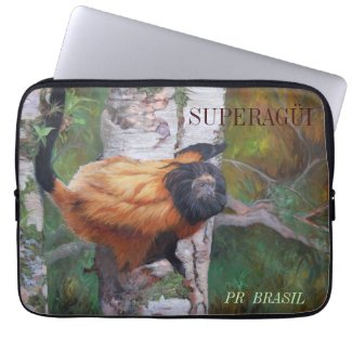 Black-faced Lion Tamarin Laptop Sleeve