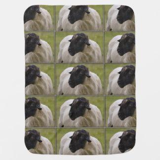 Black Faced Sheep Receiving Blankets