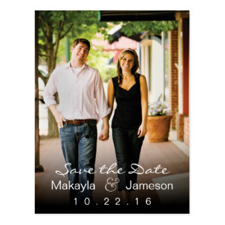 Black Fade Photo Save the Date Postcard