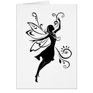 Black fairy card