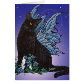 Black Fairy Cat Card