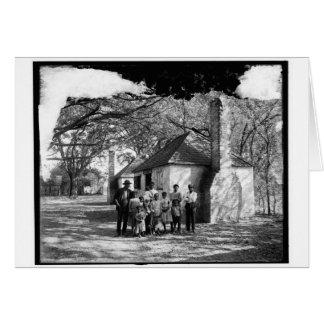 Black family at the Hermitage, Savannah, Ga. 1907 Card