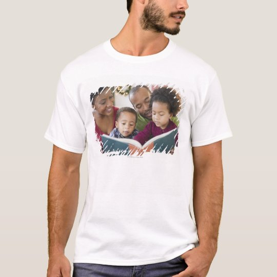Black family reading book together T-Shirt