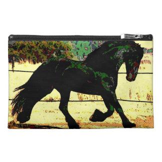 Black Fantasy Horse Travel Accessory Bag
