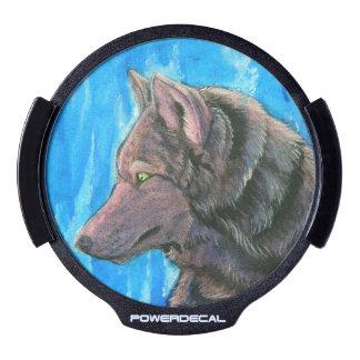 Black Fantasy Wolf Power Decal