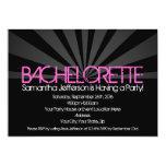 Black Fashion Lights Bachelorette Party Invitation